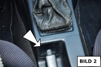 Schaltsack passend für Audi 80 B4  Bj 1991-1995 weiße Naht echt Leder